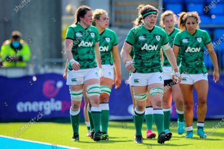 Ireland Women vs France Women. Ireland's Ciara Griffin dejected