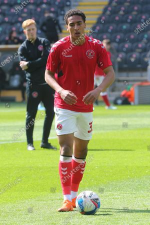 James Hill during the EFL Sky Bet League 1 match between Hull City and Fleetwood Town at the KCOM Stadium, Kingston upon Hull