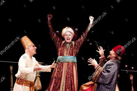 'Paradise Found' - Mandy Patinkin (Eunuch), John McMartin (Shah), George Lee Andres (Grand Vizier)