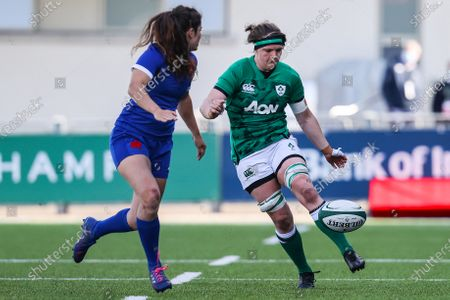 Ireland Women vs France Women. Ireland's Ciara Griffin