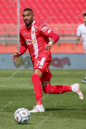 Kevin-Prince Boateng of AC Monza in action during the Serie B match between AC Monza and US Cremonese at Stadio Brianteo on April 17, 2021 in Monza, Italy.
