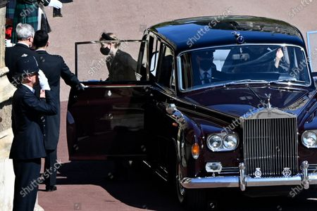 Lady Louise Windsor arrives for the funeral of Britain's Prince Philip inside Windsor Castle in Windsor, England, . Prince Philip died April 9 at the age of 99 after 73 years of marriage to Britain's Queen Elizabeth II