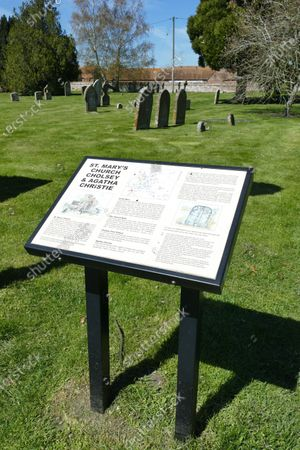 The resting place of Agatha Christie and her Husband Sir Max Mallowan in St Mary's Church