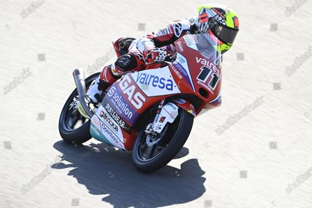 ALGARVE INTERNATIONAL CIRCUIT, PORTUGAL - APRIL 17: Sergio Garcia, Aspar Team Moto3 at Algarve International Circuit on Saturday April 17, 2021 in Portimao, Portugal. (Photo by Gold and Goose / LAT Images)