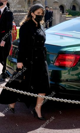 Stock Picture of Princess Eugenie arrives for the funeral of the Duke of Edinburgh at St George's Chapel, Windsor Castle, Berkshire.