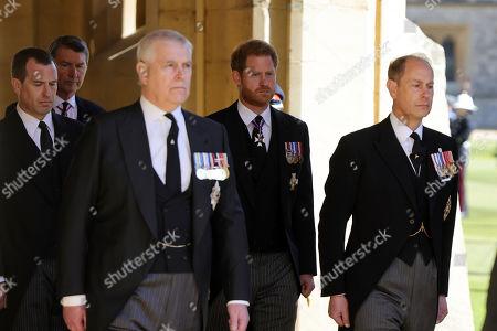 Editorial image of The funeral of Prince Philip, Duke of Edinburgh, State Entrance, Windsor Castle, Berkshire, UK - 17 Apr 2021