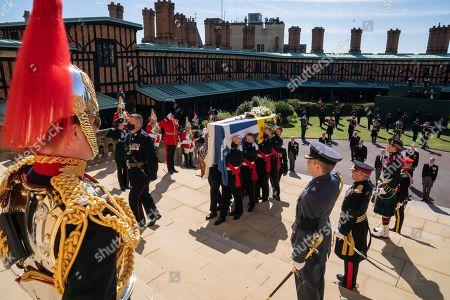 Editorial image of The funeral of Prince Philip, Duke of Edinburgh, West Steps, Windsor Castle, Berkshire, UK - 17 Apr 2021