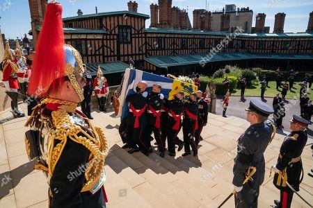 Editorial picture of The funeral of Prince Philip, Duke of Edinburgh, West Steps, Windsor Castle, Berkshire, UK - 17 Apr 2021