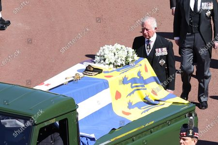 Stock Picture of Prince Charles at the Funeral of Prince Philip, The Duke of Edinburgh, at Windsor Castle.