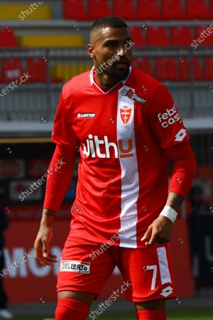 Kevin-Prince Boateng of AC Monza in action during the  during the  during the Match between AC Monza and US Cremonese  for Serie B at U-Power Stadium in Monza, Italy, on April 17 2021