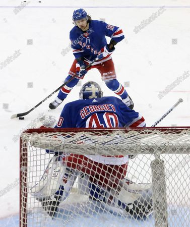 Editorial photo of Devils Rangers Hockey, New York, United States - 17 Apr 2021