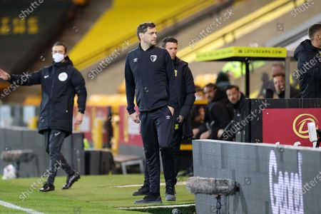 Jonathan Woodgate Manager of Bournemouth during the EFL Sky Bet Championship match between Norwich City and Bournemouth at Carrow Road, Norwich