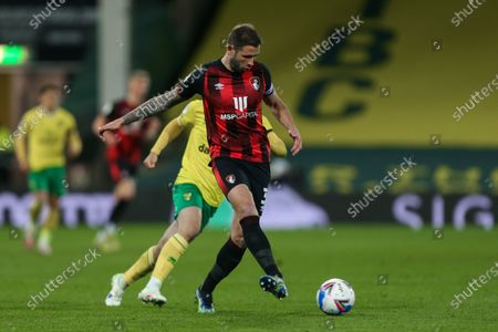 Steve Cook of Bournemouth passes the ball