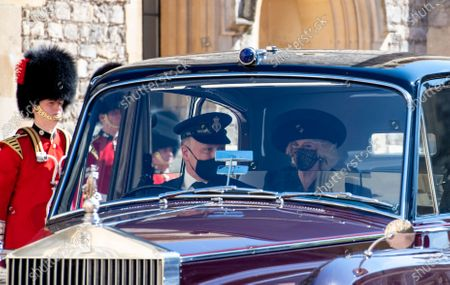 Camilla Duchess of Cornwall attending the funeral of HRH Prince Philip, The Duke of Edinburgh. St George's Chapel, Windsor Castle.