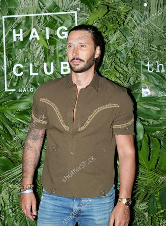 Stock Image of Cedric Gervais walks the red carpet to celebrate the opening of the Goodtime Hotel in Miami Beach, Florida, Friday, April 16, 2021.