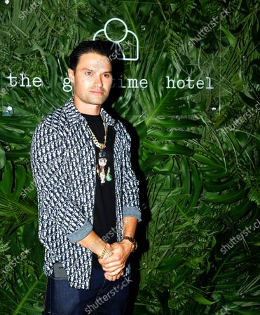 Alec Monopoly walks the red carpet to celebrate the opening of the Goodtime Hotel in Miami Beach, Florida, Friday, April 16, 2021.