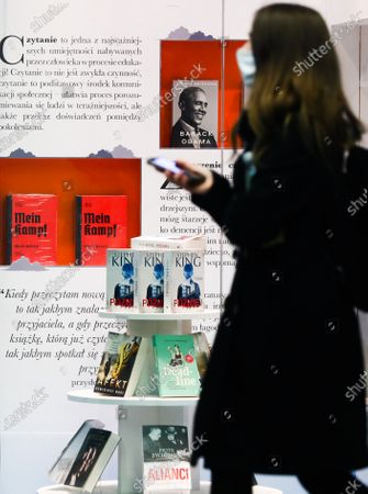 The critical edition of 'Mein Kampf' book by Adolf Hitler is displayed in a bookstore in Krakow, Poland. April 17, 2021. A new academic edition of the book was published in Poland this year on January 20th by Bellona publishing house. Despite the high price, less than a month after its premiere, the position has become a bestseller in history books section of several bookstores. The release of the Polish translation is the first critical edition of the book published in Poland and only the second in the world. In 2016, a similar scholarly edition was published in Germany.