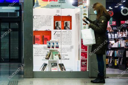 Editorial photo of The Obama Memoirs In Polish Bookstores, Kraków, Poland - 17 Apr 2021