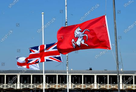 The flags of England, The United Kingdom and Kent fly at half mast in respect of the passing of HRH Prince Phillip The Duke Of Edinburgh.