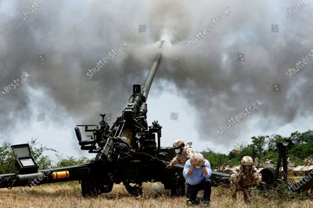 Editorial image of Colombian military drill close to the border with Venezuela, Buenavista, Colombia - 17 Apr 2021