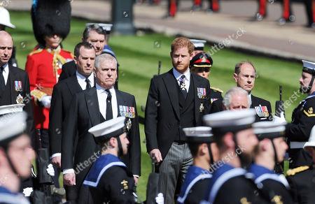 Editorial image of The funeral of Prince Philip, Duke of Edinburgh, Parade Ground, Windsor Castle, Berkshire, UK - 17 Apr 2021