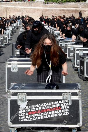 Entertainment Industry protest, Rome