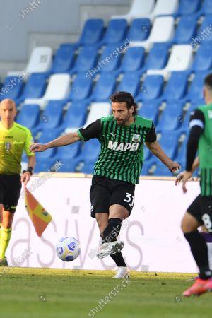 "Gian Marco Ferrari (Sassuolo)           during the Italian ""Serie A"" match between Sassuolo 3-1 Fiorentina at  Mapei Stadium in Reggio Emilia, Italy."