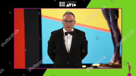 Stock Photo of American Cinema Editors President Kevin Tent, ACE, welcoming guests at the 71st Annual ACE Eddie Awards