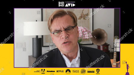 """Writer/Director of """"The Trial of the Chicago 7"""" Aaron Sorkin presenting the Anne V. Coates Award for Student Editing at the 71st Annual ACE Eddie Awards"""