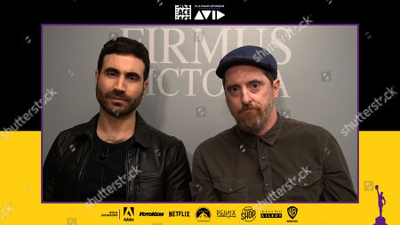 """From L to R: """"Ted Lasso"""" actor Brett Goldstein and actor/co-creator Brendan Hunt presenting at the 71st Annual ACE Eddie Awards"""