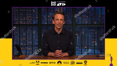 Seth Meyers presenting at the 71st Annual ACE Eddie Awards