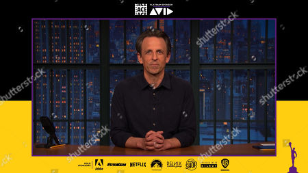 Stock Picture of Seth Meyers presenting at the 71st Annual ACE Eddie Awards