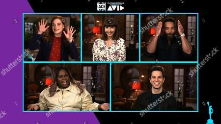 "The ensemble cast of ""Zoey's Extraordinary Playlist"" co-hosting the 71st Annual ACE Eddie Awards (Jane Levy, Mary Steenburgen, John Clarence Stewart, Alex Newell, Skylar Astin)"