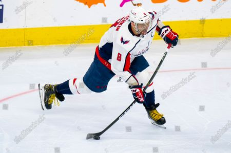 Washington Capitals' Alex Ovechkin in action during the third period of an NHL hockey game against the Philadelphia Flyers, in Philadelphia. The Capitals won 6-3