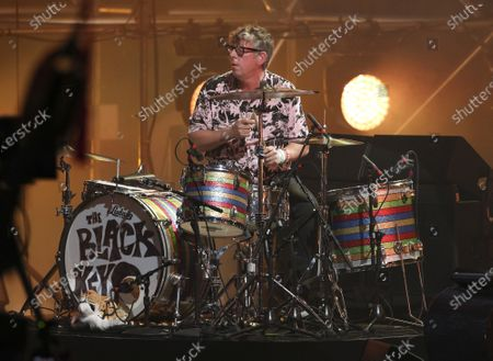 Stock Photo of The Black Keys perform during the Triller Fight Club Night at Mercedes Benz Stadium, in Atlanta