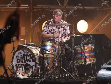 The Black Keys perform during the Triller Fight Club Night at Mercedes Benz Stadium, in Atlanta