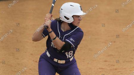 Furman's Natalie Morgan (18) during an NCAA softball game, in Johnson City, Tenn