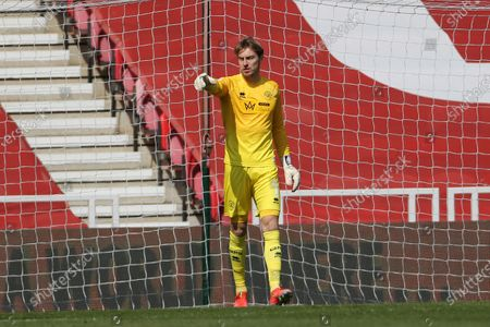 Joe Lumley of Queen Park Rangers  during the Sky Bet Championship match between Middlesbrough and Queens Park Rangers at the Riverside Stadium, Middlesbrough, England on 17th April 2021.