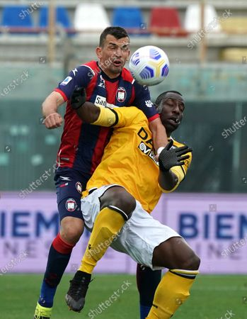 "Stefano Okaka of Udinese Calcio during the Serie A match between Fc Crotone and Udinese Calcio on April 17, 2021 stadium ""Ezio Scida"" in Crotone, Italy"