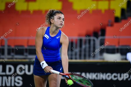 Editorial photo of Romania v Italy - Billie Jean King Cup Play-Offs -Day 2, Cluj-Napoca - 17 Apr 2021