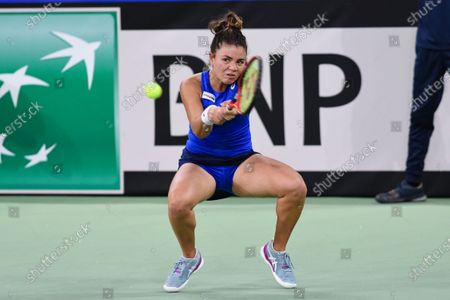 Jasmine Paolini player of team Italy during the match against Elena Gabriela Ruse, romanian player during the Billie Jean King cup in Cluj-Napoca, 17 April 2021