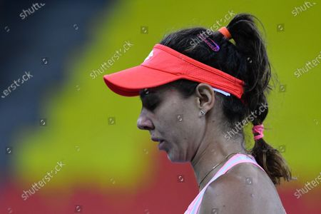 Mihaela Buzarnescu, player of team Romania during the match against Elisabeta Cocciaretto, italian player during the Billie Jean King cup in Cluj-Napoca, 17 April 2021