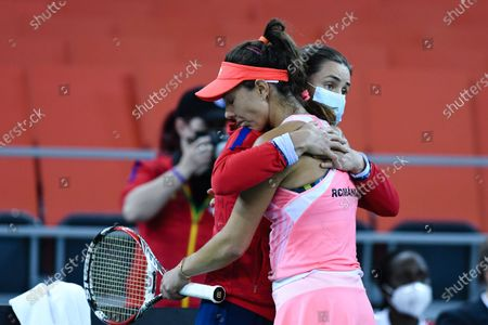 Editorial picture of Romania v Italy - Billie Jean King Cup Play-Offs -Day 2, Cluj-Napoca - 17 Apr 2021