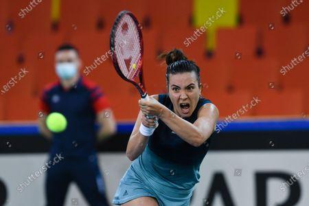 Elena Gabriela Ruse, player of team Romania during the match against Jasmine Paolini, italian player during the Billie Jean King cup in Cluj-Napoca, 17 April 2021
