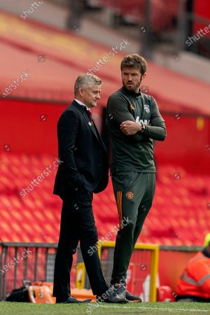 Editorial picture of Manchester United v Burnley, Premier League, Football, Old Trafford, Manchester, UK - 18 Apr 2021
