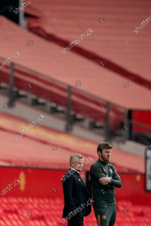 Stock Picture of Manchester United manager Ole Gunnar Solskjaer and assistant Michael Carrick