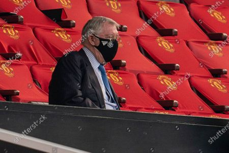 Stock Image of Sir Alex Ferguson in the stands