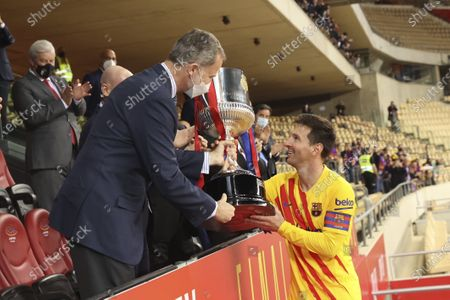 King Felipe VI attends the King's Cup 2021, La Cartuja Stadium