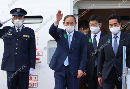Prime Minister Yoshihide Suga returns from the United States, Tokyo