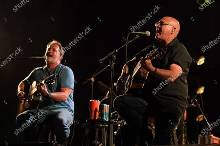 Editorial photo of Sister Hazel in concert, Old School Square Pavilion, Delray Beach, Florida, USA - 17 Apr 2021